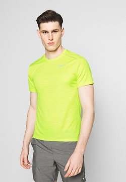 Nike Performance - DRY MILER - Camiseta estampada - limelight/reflective silver