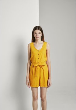 TOM TAILOR DENIM - SHORTALL - Combinaison - orange yellow