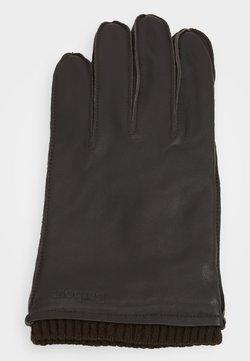 Barbour - BAMPTON GLOVES - Gloves - dark brown