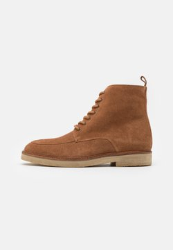 Walk London - SLICK APRON BOOT - Schnürstiefelette - tan
