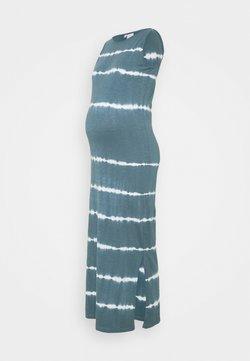 MAMALICIOUS - MLMALIA MAXI DRESS - Vestido ligero - china blue/tie dye white