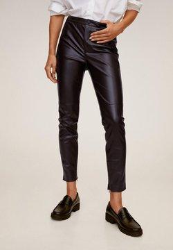 Mango - LONDONPU - Spodnie materiałowe - bordeaux