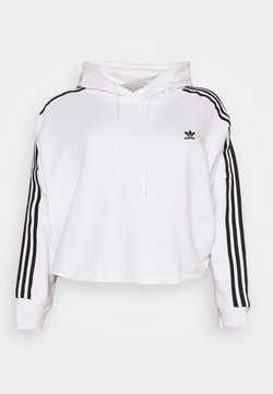 adidas Originals - CROPPED HOOD - Jersey con capucha - white