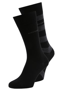 BOSS - BLOCK STRIPE 2 PACK - Socken - black