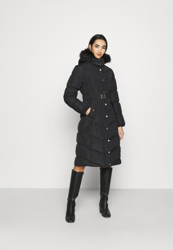 River Island - BELTED PUFFER - Wintermantel - black