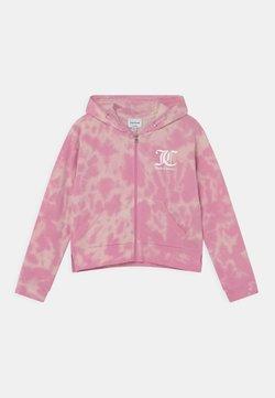 Juicy Couture - TIE DYE HOODIE - Vetoketjullinen college - fuchsia pink