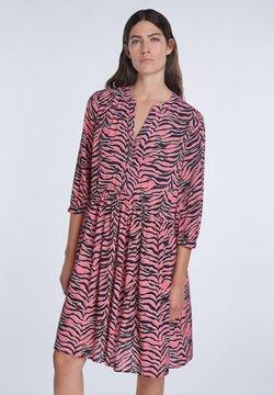 SET - MIT ZEBRA-PRINT - Freizeitkleid - pink grey