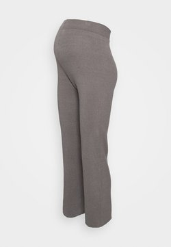 New Look Maternity - WIDE LEG TROUSER - Leggings - dark grey
