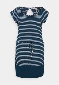 Ragwear Plus - SOHO STRIPE - Jerseykleid - navy