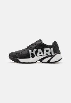 KARL LAGERFELD - VOLT LOGO LO LACE - Sneaker low - black/silver