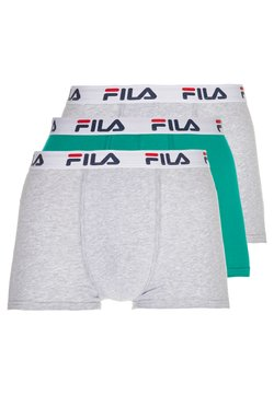 Fila - 3 PACK TRUNK - Shorty - green bottle/grey