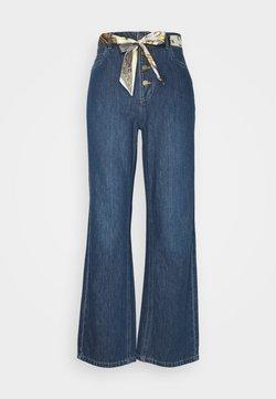 ONLY - ONLMOLLY BELT LIFE WIDE - Flared Jeans - dark blue