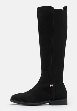 Tommy Hilfiger - ESSENTIAL FLAT LONG BOOT - Boots - black