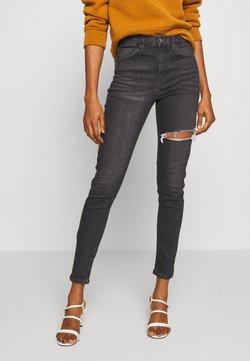 Topshop - THIGH RIP JAMIE - Jeans Skinny Fit - black
