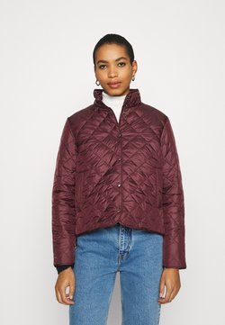 Selected Femme - SLFPLASTICCHANGE QUILTED JACKET - Overgangsjakker - port royale