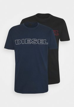 Diesel - 2 PACK - T-shirt con stampa - blue/black