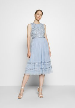 Maya Deluxe - SLEEVELESS MIDI DRESS WITH RUFFLE DETAIL SKIRT - Vestido de cóctel - pearl blue