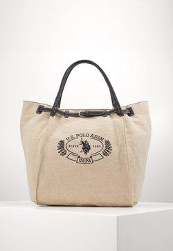 U.S. Polo Assn. - ELMORE - Shoppingväska - natural/black