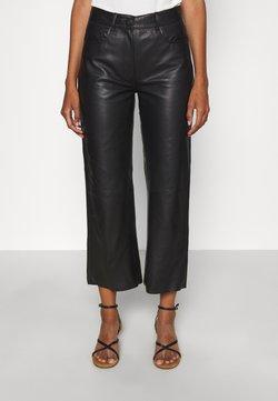 STUDIO ID - SHEENA WIDE LEG POCKETS  - Pantalon en cuir - black