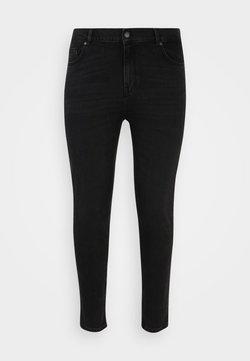 Selected Femme Curve - SLFANNA SLIM BEAUTY - Jeansy Slim Fit - black denim