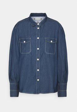 Noa Noa - LIGHT WEIGHT - Button-down blouse - denim dark blue