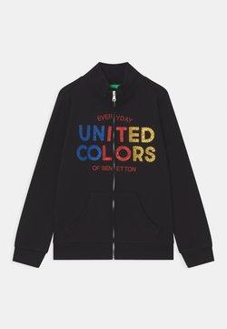 Benetton - BASIC GIRL - Zip-up hoodie - black