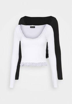 Even&Odd Tall - 2 PACK - Pitkähihainen paita - black/white