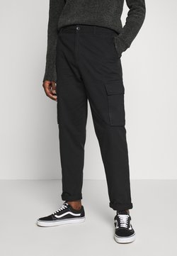 New Look - TROUSER - Cargohose - black