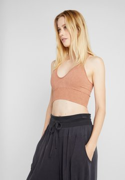 Free People - GOOD KARMA CROP - Top - sand