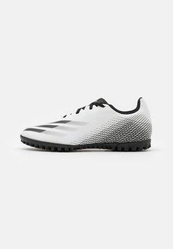 adidas Performance - X GHOSTED.4 FOOTBALL BOOTS TURF - Voetbalschoenen voor kunstgras - footwear white/core black/silver metallic
