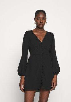 Abercrombie & Fitch - DRAMA BUTTON MINIDRESS - Day dress - black