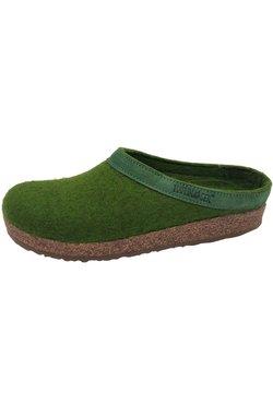 Haflinger - GRIZZLY TORBEN - Pantolette flach - grasgrün