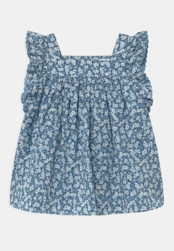 GAP - FLORAL - Korte jurk - bleach blue