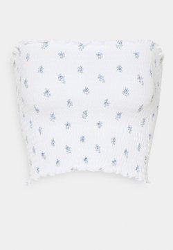 Hollister Co. - SMOCKED TIE BACK TUBE - Top - white