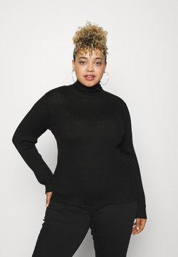 Selected Femme Curve - SLFCOSTIA ROLLNECK - Strikpullover /Striktrøjer - black