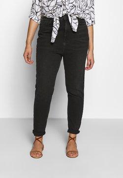 New Look Curves - WAIST ENHANCE MOM - Straight leg jeans - black