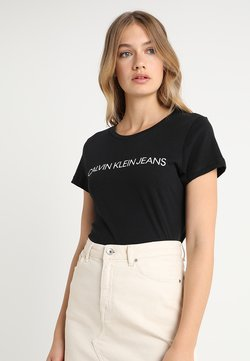 Calvin Klein Jeans - INSTITUTIONAL LOGO TEE - T-shirt con stampa - black