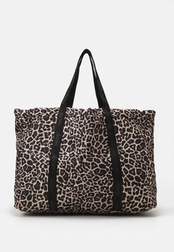 Hunkemöller - SPORTS BAG LEOPARD - Sporttasche - black