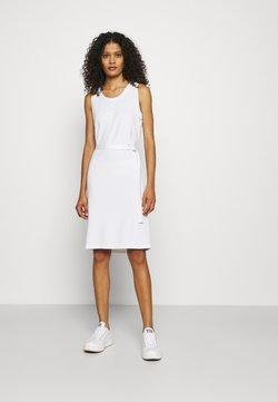 Calvin Klein - MINI LOGO DRESS - Jerseykleid - bright white