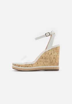 New Look - PACIFIC PERSPEX WEDGE - Sandaletter - white