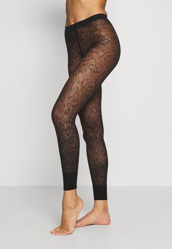 FALKE - FALKE ZEBRA 20 DENIER  LEGGINGS TRANSPARENT FEIN BRAUN - Leggings - Strümpfe - black