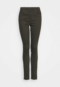 Vero Moda Tall - VMTANYA PIPING ANKLE ZIP - Jeans Skinny Fit - peat