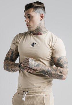 SIKSILK - ALLURE STRAIGHT HEM GYM TEE - T-shirt basic - beige
