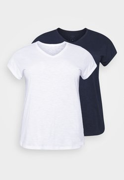 MY TRUE ME TOM TAILOR - 2 PACK - T-Shirt basic - real navy blue