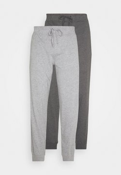 Pier One - 2 PACK - Bas de pyjama - mottled dark grey/mottled grey