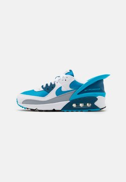 Nike Sportswear - AIR MAX 90 FLYEASE UNISEX - Sneakers - white/laser blue/industrial blue/wolf grey