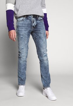 Topman - DAMAGE - Slim fit jeans - mid wash
