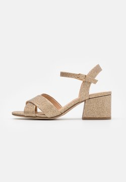 Dorothy Perkins - BOOM MID HEIGHT BLOCK - Sandales - gold