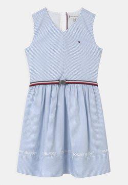 Tommy Hilfiger - STRIPE V-NECK - Cocktailkleid/festliches Kleid - calm blue