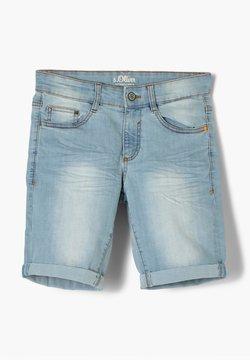 s.Oliver - REGULAR FIT  - Jeans Shorts - light blue